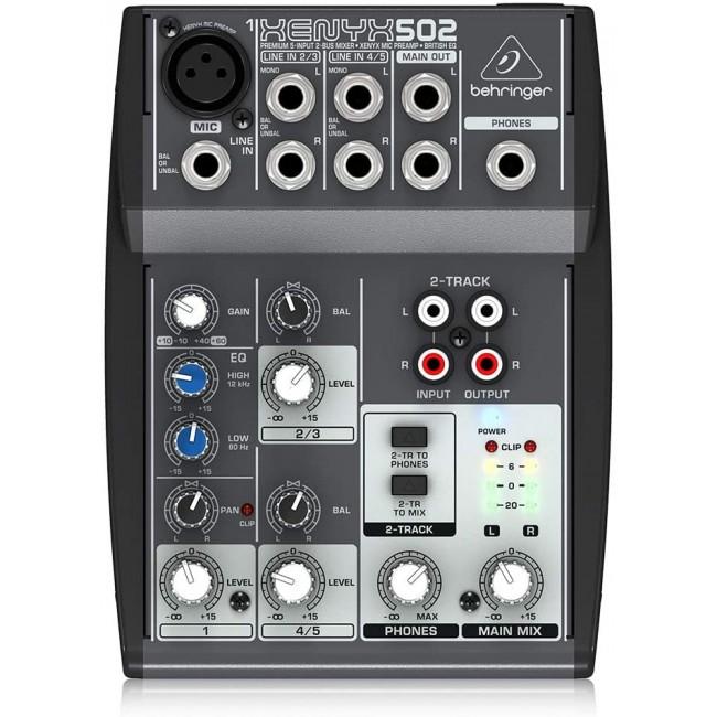 BEHRINGER XENYX-502 | Mixer Ultra compacto Xenyx 502