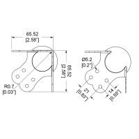 Penn Elcom 10900-14 | Esquinero Bola Grande con Relieve de 35mm