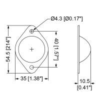 Penn Elcom 3005 | Pata Metálica Apilable Macho