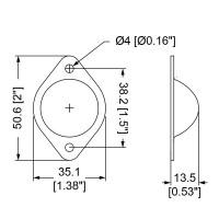 Penn Elcom 3007 | Pata Metálica Macho de 2 Agujeros