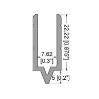 "Penn Elcom 3018 | Perfil Macho de 1/4"" Compatible con Perfil Hembra 3019"