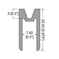 "Penn Elcom 3019 | Perfil Hembra de 1/4"" Compatible con Perfil Macho 3018"