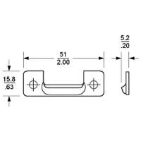 Penn Elcom 8103 | Clip de Sujeción Compatible con 8102 y 8105
