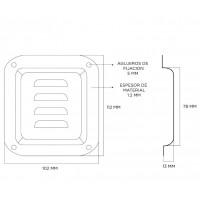 Penn Elcom D0511Z | Base de Embutir Chica para Ventilacion 102 x 89mm