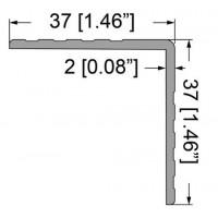 Penn Elcom E0801-3000 | Perfil Angulo de 3 Mt de 37mm