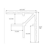 Penn Elcom E0875-3000 | Perfil de Doble Angulo de 30mm de 3 Metros