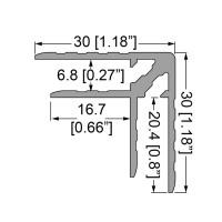 Penn Elcom E0885-2000 | Perfil de Angulo Doble de 30mm de 2 Mt para Paneles de 6mm