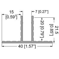 Penn Elcom E2220-3000 | Perfil de Aluminio Divisor Grosor 7mm