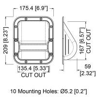 Penn Elcom H1020 | Manija Plástica de 175.3 x 208.3mm para Parlantes