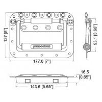 Penn Elcom H7165Z | Manija de Embutir Grande Doble Resorte 177.8mm x 127mm