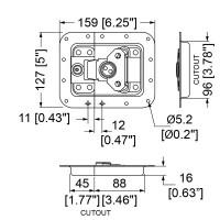 Penn Elcom L911-679MOL | Cierre Embutido Grande con Llave Off Set 127x159mm