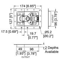 Penn Elcom L944-525MOL3 | Cierre Embutido Grande Automático de 127x174mm