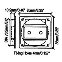 Penn Elcom M1500 | Base Plástica Embutida para 2 Jacks