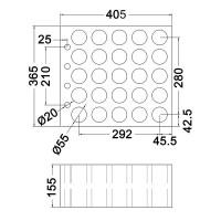 Penn Elcom M6001 | Espuma para 25 Micrófonos