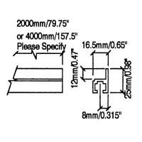 Penn Elcom R0830-2000 | Riel de Rack de Aluminio de 2 Mt