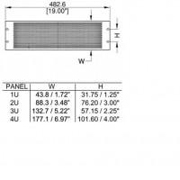 Penn Elcom R1385-2UVK | Frente de Rack de Ventilación 2U