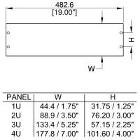 Penn Elcom R1385-4UK | Frente de Rack Ciego de 4U