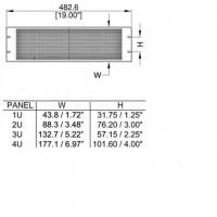 Penn Elcom R1385-4UVK | Frente de Rack Ventilación 4U