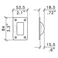 Penn Elcom W0961   Soporte de Plástico para Apilar Ruedas de 2 Pulgadas