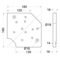 Penn Elcom W9980   Base Universal con 3 Posiciones para Ruedas de 10