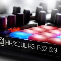 Hercules HER-P32   Controlador para Dj consola midi con puerto usb y pads con luz