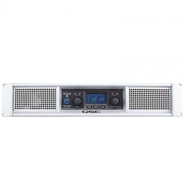 QSC GXD8 | Amplificador de 2 canales con DSP de 1500w de potencia Clase D